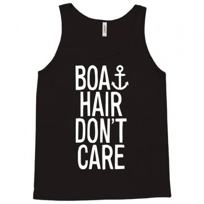 Boat Hair Don't Care Tank Top Designed By Mdk Art
