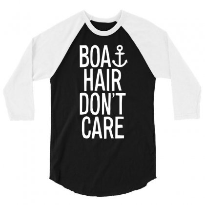 Boat Hair Don't Care (2) 3/4 Sleeve Shirt Designed By Mdk Art