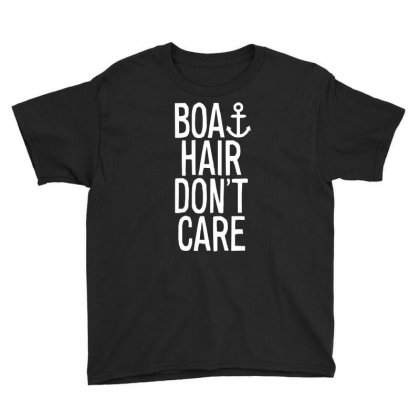 Boat Hair Don't Care (2) Youth Tee Designed By Mdk Art