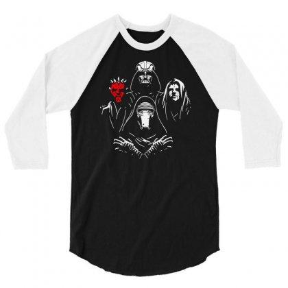 Bohemian Dark Side 3/4 Sleeve Shirt Designed By Mdk Art
