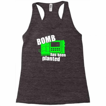 Bomb Has Been Planted Racerback Tank Designed By Mdk Art