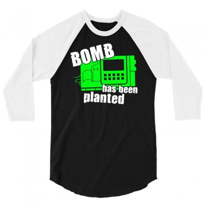 Bomb Has Been Planted 3/4 Sleeve Shirt Designed By Mdk Art
