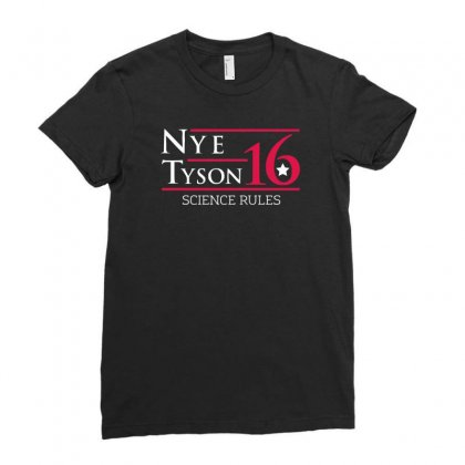 Nye Tyson '16 Science Rules Ladies Fitted T-shirt Designed By Cuser388
