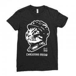 chairman meow chinese propaganda cat kitten parody poster Ladies Fitted T-Shirt | Artistshot
