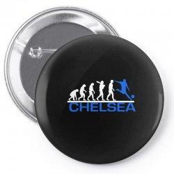 chelsea evolution sports football funny Pin-back button   Artistshot
