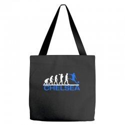 chelsea evolution sports football funny Tote Bags   Artistshot