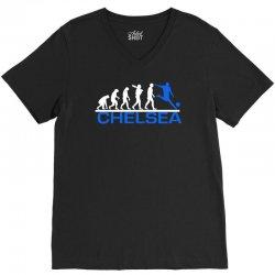 chelsea evolution sports football funny V-Neck Tee   Artistshot