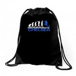 chelsea evolution sports football funny Drawstring Bags   Artistshot