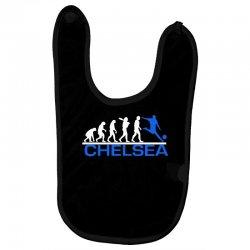 chelsea evolution sports football funny Baby Bibs   Artistshot