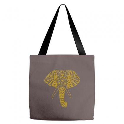 Tribal Print Elephant Geometric Gold Animals Cool Tote Bags Designed By Cuser388