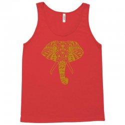 tribal print elephant geometric gold animals cool Tank Top | Artistshot