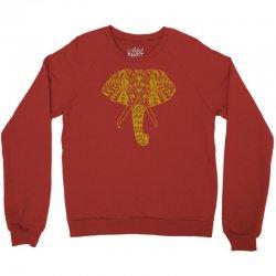 tribal print elephant geometric gold animals cool Crewneck Sweatshirt | Artistshot
