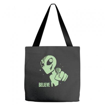 Alien Believe Space Sci Fi Ufo Nerd Tote Bags Designed By Cuser388