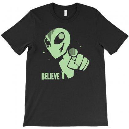 Alien Believe Space Sci Fi Ufo Nerd T-shirt Designed By Cuser388