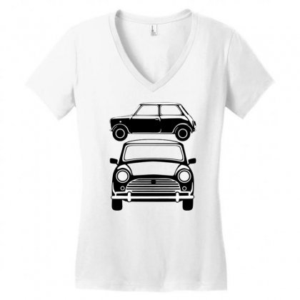 Classic Mini, Ideal Birthday Gift Or Birthday Present Women's V-neck T-shirt Designed By Mdk Art