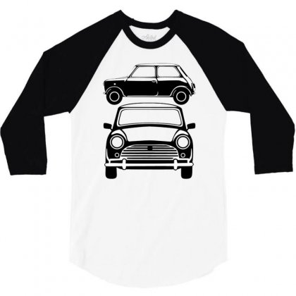 Classic Mini, Ideal Birthday Gift Or Birthday Present 3/4 Sleeve Shirt Designed By Mdk Art