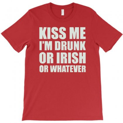 Kiss Me I'm Drunk Or Irish T-shirt Designed By Cuser388