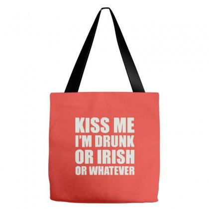 Kiss Me I'm Drunk Or Irish Tote Bags Designed By Cuser388