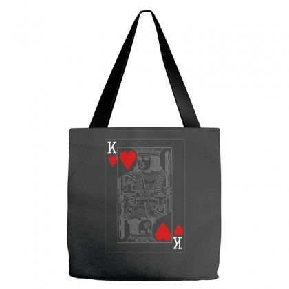 King Of Hearts Playing Card Tote Bags Designed By Cuser388