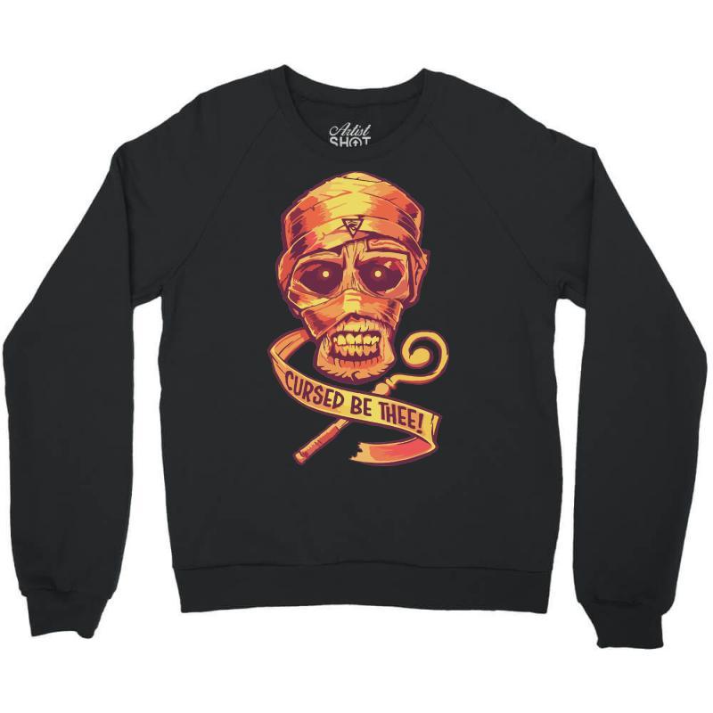 The Cursed Mummy Crewneck Sweatshirt | Artistshot