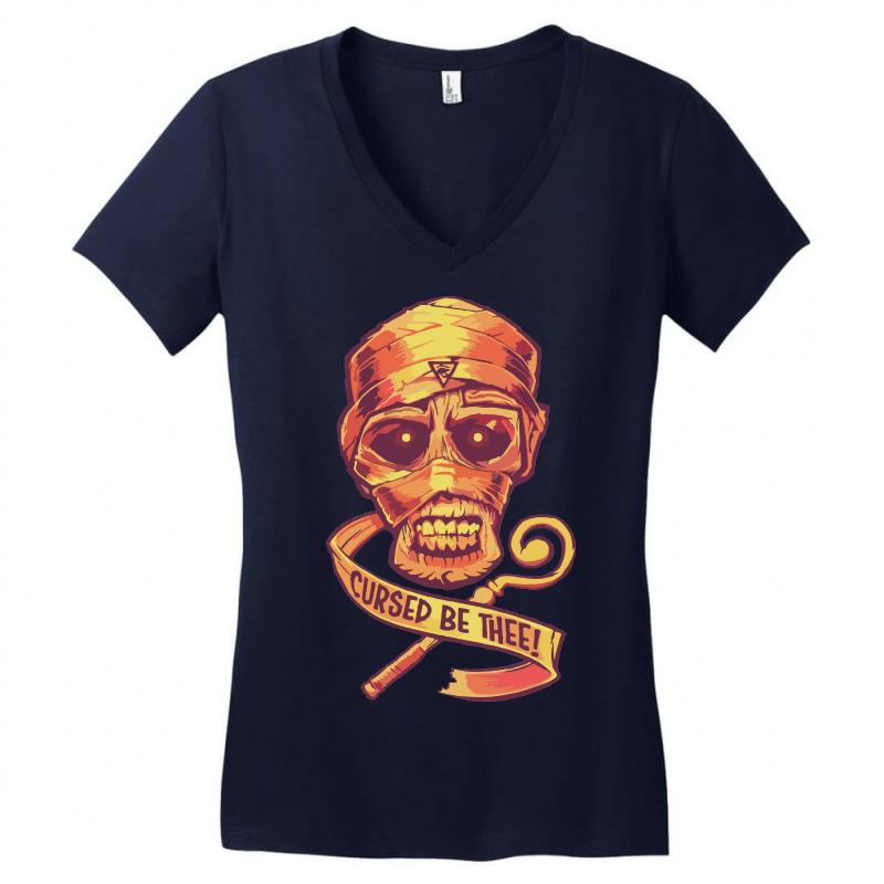 The Cursed Mummy Women's V-neck T-shirt   Artistshot