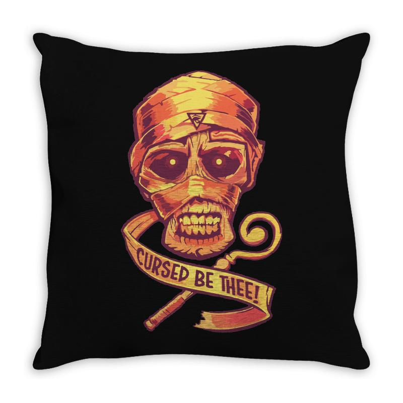 The Cursed Mummy Throw Pillow | Artistshot