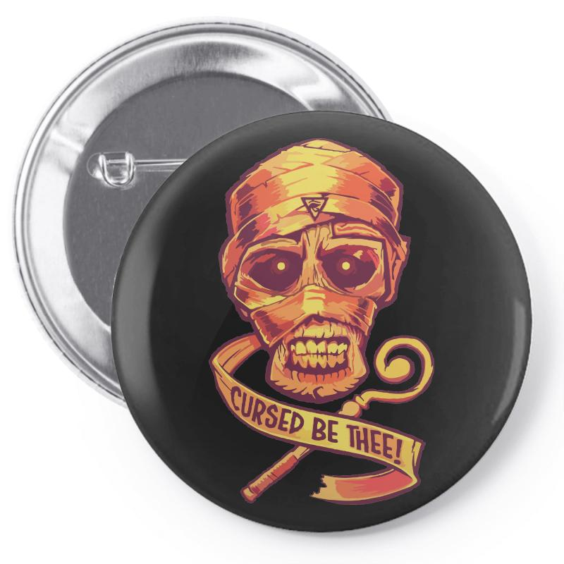 The Cursed Mummy Pin-back Button | Artistshot