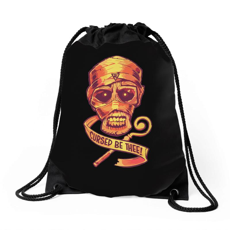 The Cursed Mummy Drawstring Bags | Artistshot