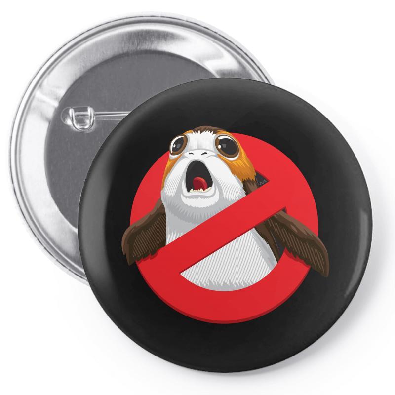 No Porgs! Pin-back Button | Artistshot
