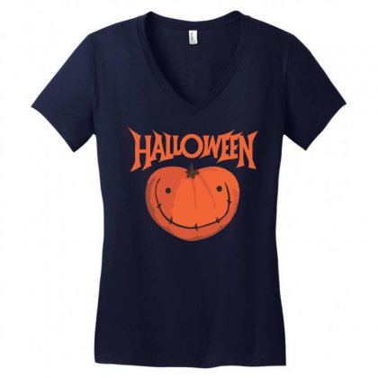 Halloween Women's V-neck T-shirt Designed By Sbm052017