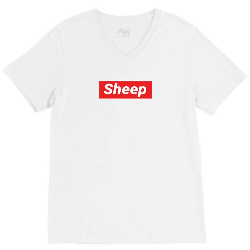 Sheep (idubbbz Merch) Supreme V-neck Tee | Artistshot