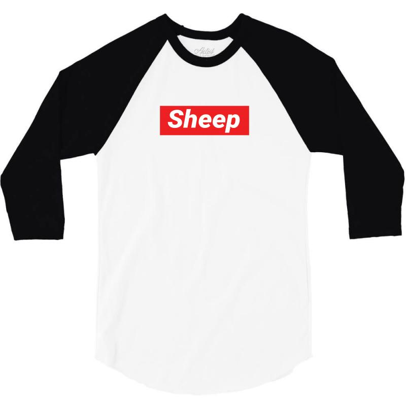 Sheep (idubbbz Merch) Supreme 3/4 Sleeve Shirt | Artistshot