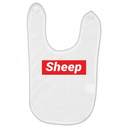Sheep (iDubbbz Merch) Supreme Baby Bibs | Artistshot