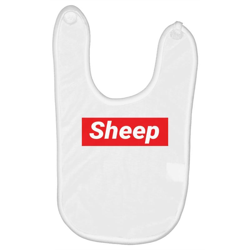 Sheep (idubbbz Merch) Supreme Baby Bibs | Artistshot