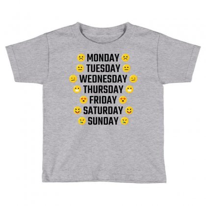 Emoji Days Of The Week Toddler T-shirt Designed By Tshiart
