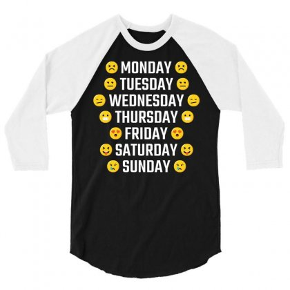Emoji Days Of The Week 3/4 Sleeve Shirt Designed By Tshiart