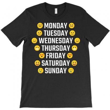 Emoji Days Of The Week T-shirt Designed By Tshiart