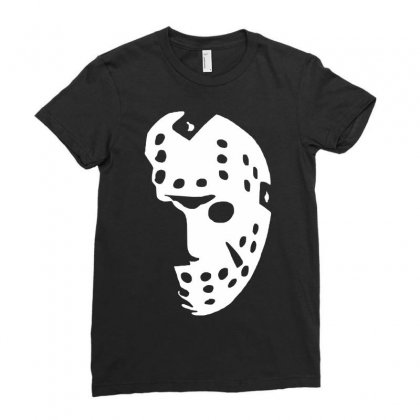 Halloween Hockey Mask Ladies Fitted T-shirt Designed By Budi