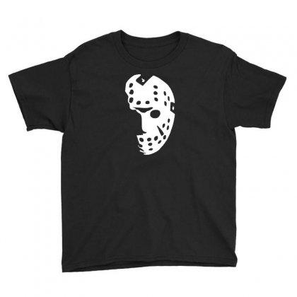 Halloween Hockey Mask Youth Tee Designed By Budi