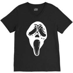 scream mask halloween V-Neck Tee | Artistshot