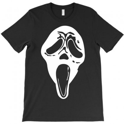 Scream Mask Halloween T-shirt Designed By Budi