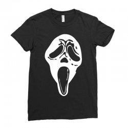 scream mask halloween Ladies Fitted T-Shirt | Artistshot