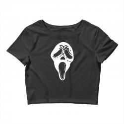 scream mask halloween Crop Top | Artistshot