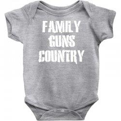 family, guns, country Baby Bodysuit | Artistshot