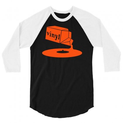 Vinyl Record 3/4 Sleeve Shirt Designed By Budi