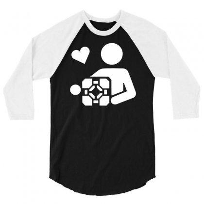 Adesivo Companion Cube Portal 3/4 Sleeve Shirt Designed By Budi