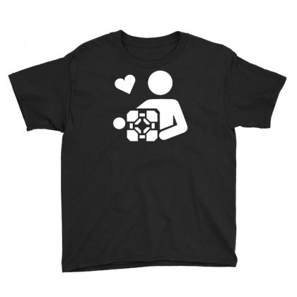 Adesivo Companion Cube Portal Youth Tee Designed By Budi