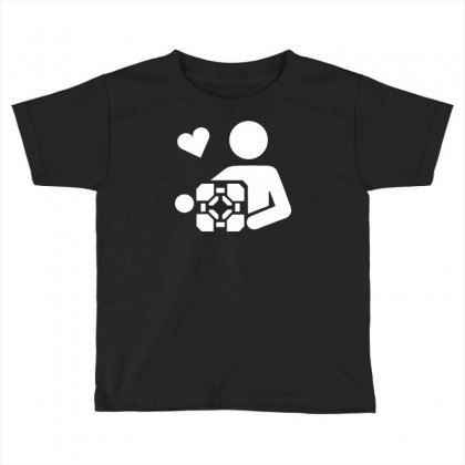 Adesivo Companion Cube Portal Toddler T-shirt Designed By Budi
