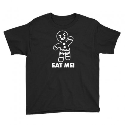 Gingerbread Man Eat Me Youth Tee Designed By Budi