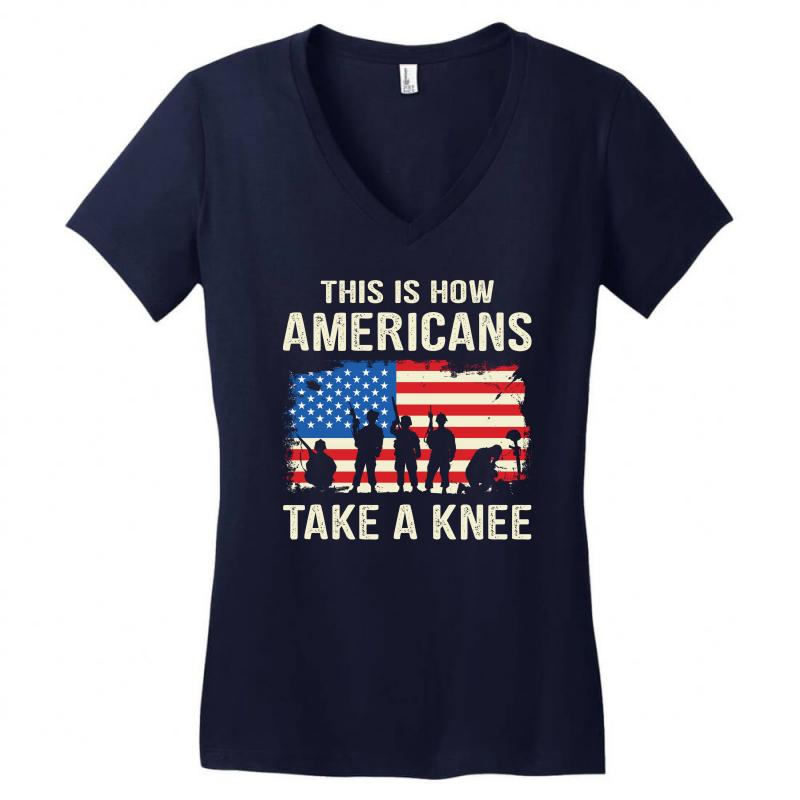 This Is How Americans Take A Knee Women's V-neck T-shirt | Artistshot